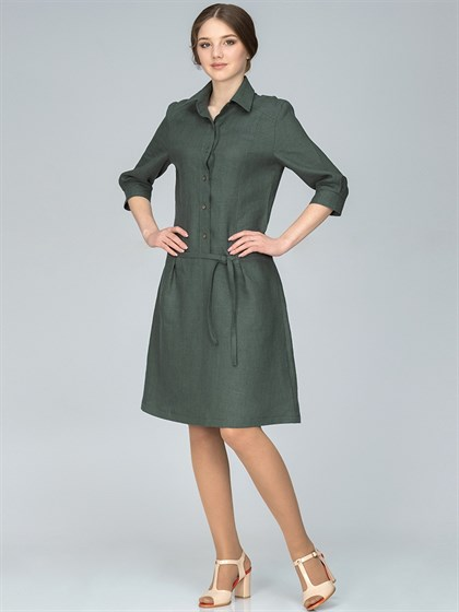 Платье льняное - фото 35802