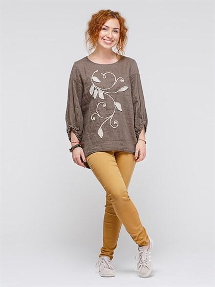 Блуза льняная - фото 35957