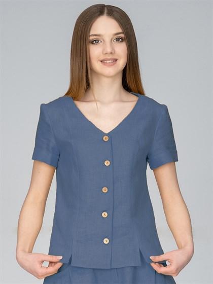 Блузка изо льна - фото 35969