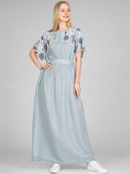 Платье льняное - фото 36020