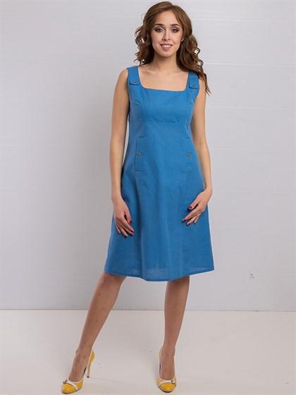 Платье изо льна - фото 36190