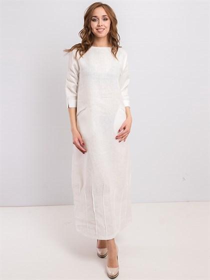 Платье льняное - фото 36198