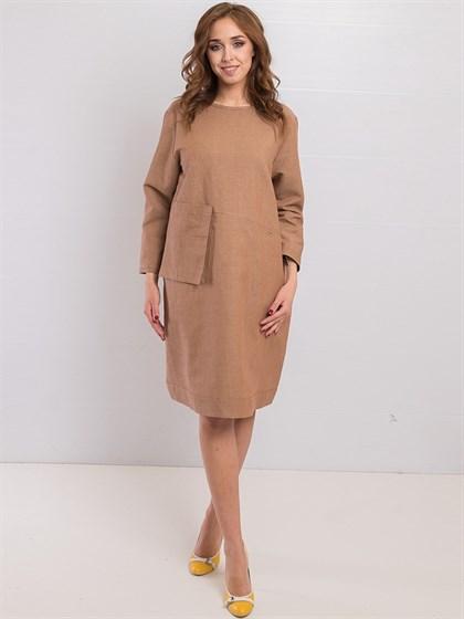 Платье льняное - фото 36213
