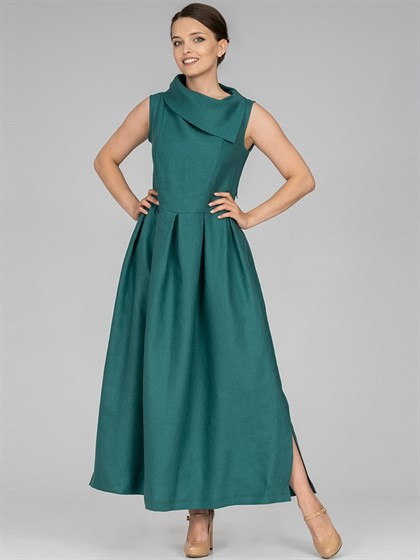 Платье льняное - фото 36518