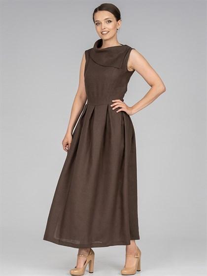 Платье льняное - фото 36526