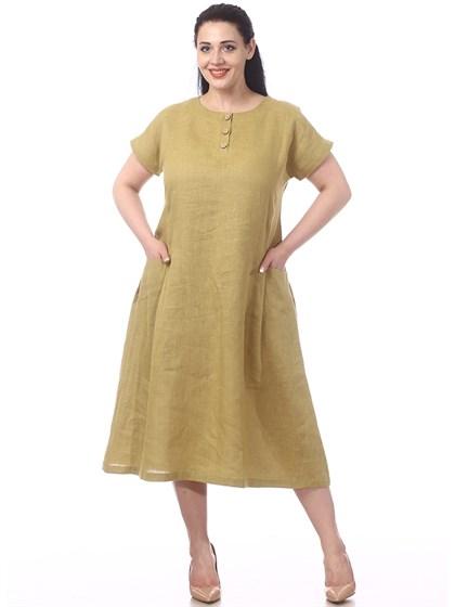 Платье льняное - фото 36622