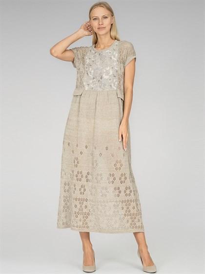 Платье льняное - фото 36908