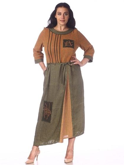 Платье льняное - фото 36950