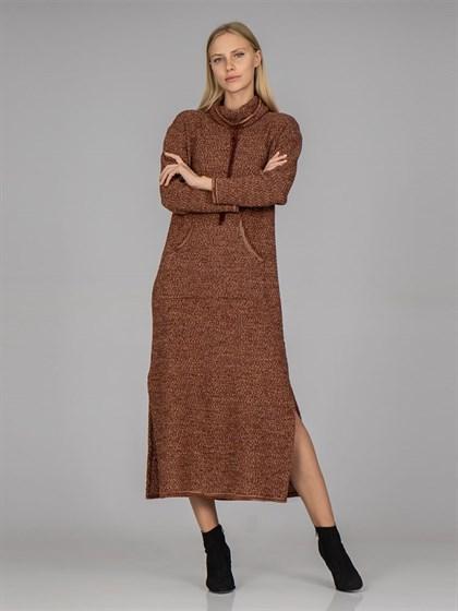 Вязаное платье - фото 37215
