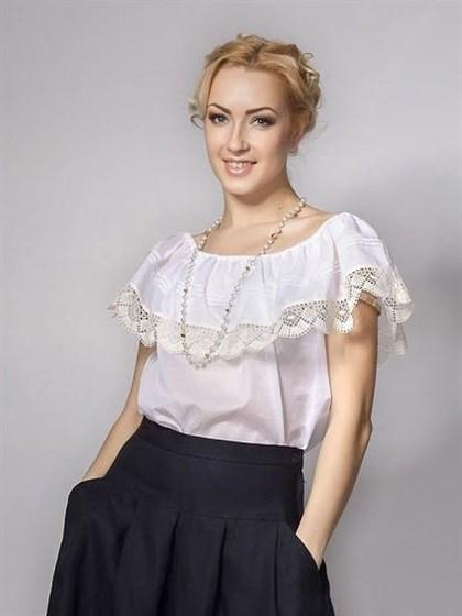 Блузка с кружевом - фото 37268