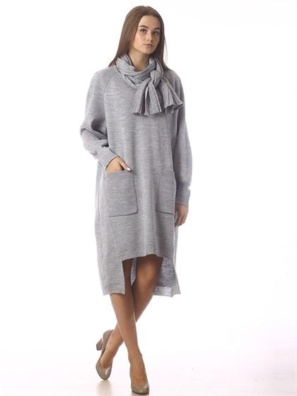 Платье с шарфом - фото 37279
