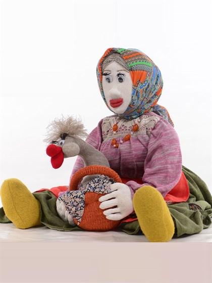 """Игрушка из льна """"Бабка"""" - фото 37851"""