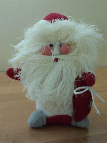 """Игрушка мягкая из льна """"Дед Мороз"""" (маленький) - фото 37863"""