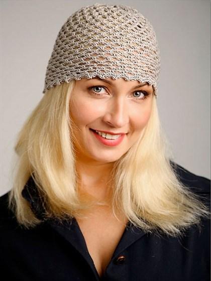 Льняная шапочка ручной работы - фото 38116