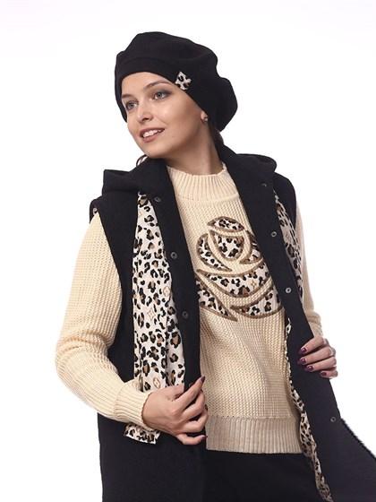 Берет (варенка) и шарф (штапель) - фото 38133