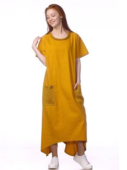 Платье льняное - фото 39990