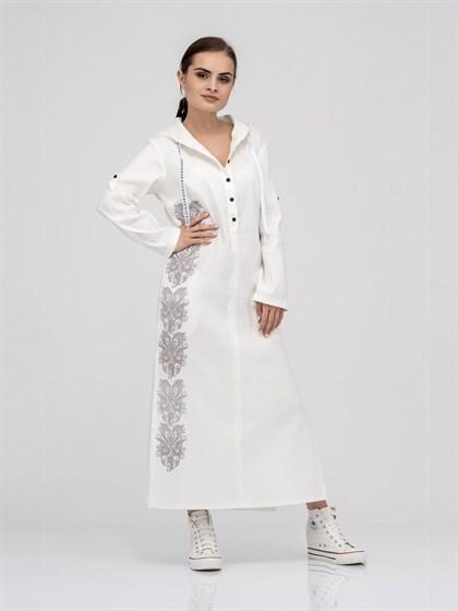 Платье - рубашка из льна - фото 40547