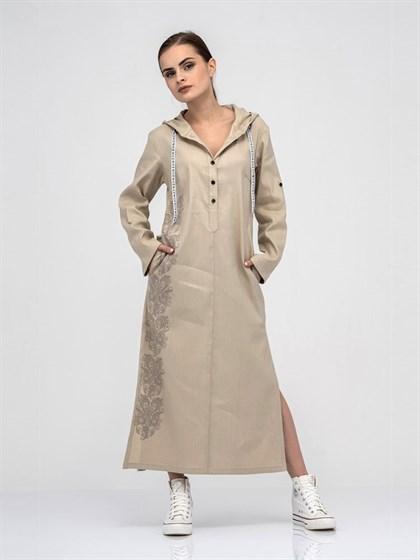 Платье - рубашка из льна - фото 40582