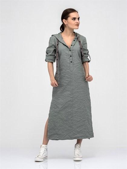 Платье - рубашка из льна - фото 40649