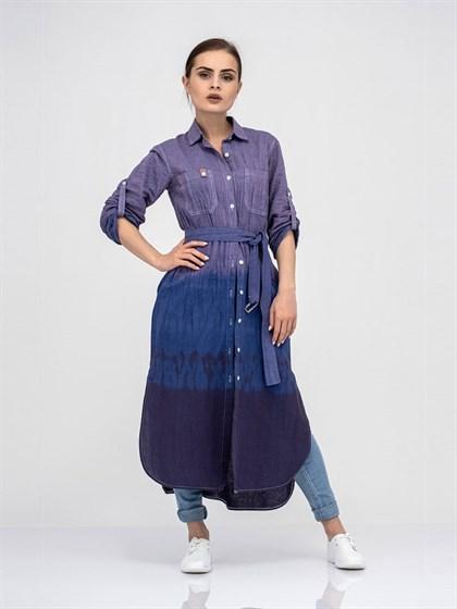 Платье - рубашка из льна - фото 40805