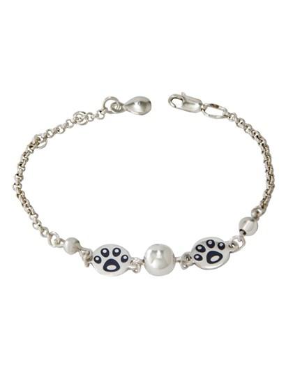 Браслет серебряный Лапки - фото 41436