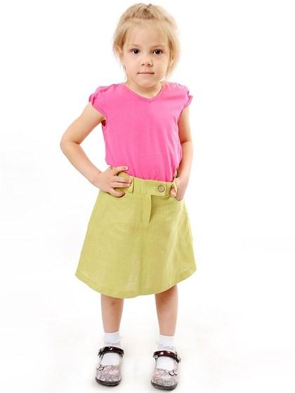 Юбка для девочки изо льна - фото 42261