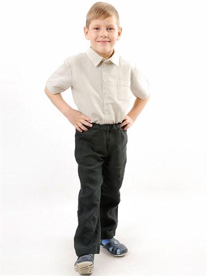 Брюки льняные для мальчика - фото 42274