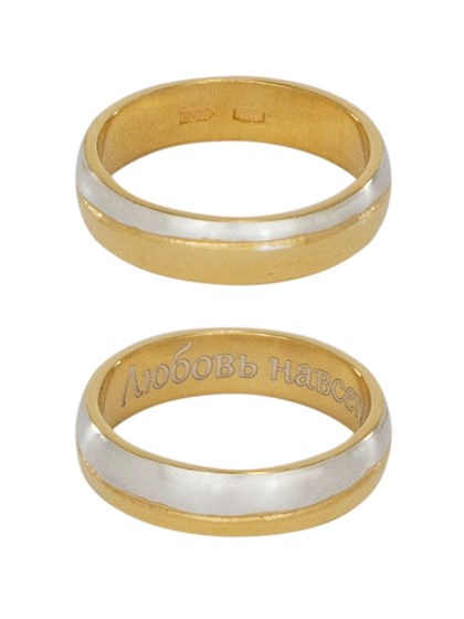Кольцо женское серебряное с позолотой - фото 42339