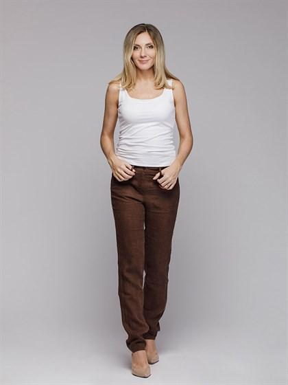 Льняные брюки - фото 42714