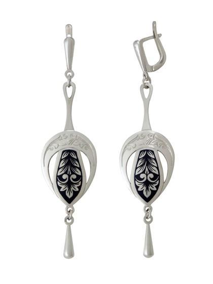 Серьги серебряные Луиза - фото 43567