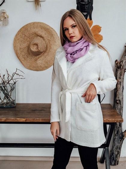 Жакет-пальто из льна с полушерстью - фото 43677