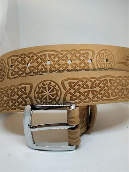 Ремень из натуральной кожи Славянский стиль - фото 46515