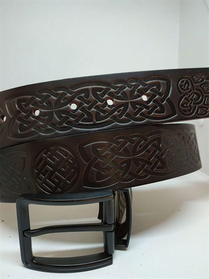 Ремень из натуральной кожи Славянский стиль - фото 46533