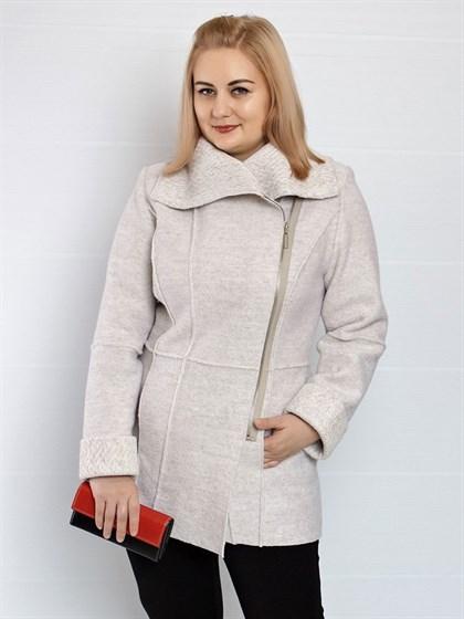 Пальто из валяной шерсти демисезонное - фото 46627