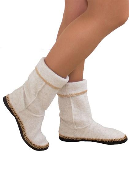 Домашная обувь из валяной шерсти - фото 47044