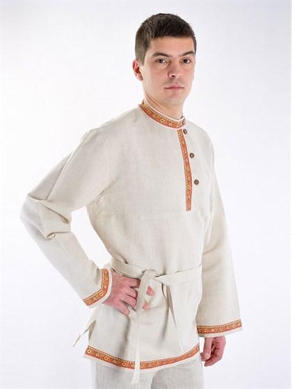 Мужская рубашка - косоворотка с тесьмой - фото 52651