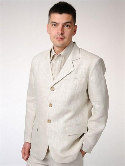 Пиджак мужской классический изо льна - фото 54365