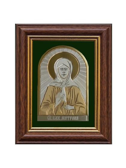 Икона серебряная Блаженная Матрона - фото 55847