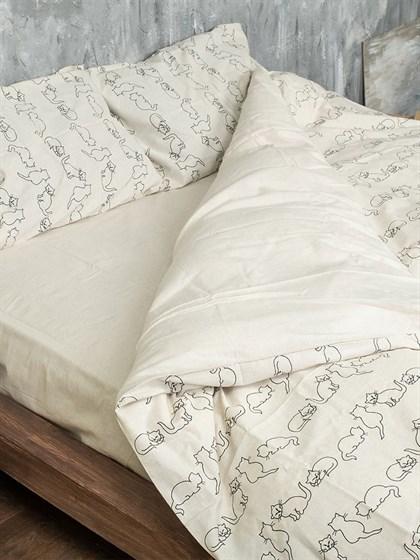 Постельное белье 1,5-спальный льняной - фото 55982