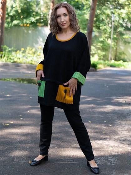 Джемпер длинный женский - фото 57537