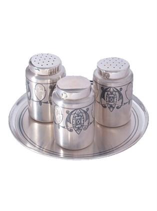 Набор для специй серебряный