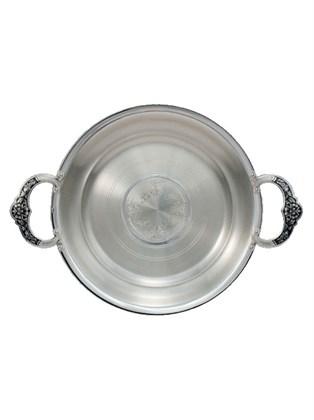 Тарелка-поднос серебряная