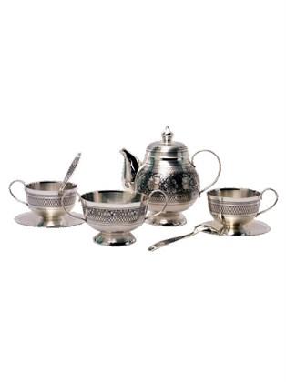 Серебряный чайный сервиз