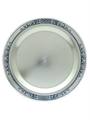 Тарелочка серебряная для охотничьего набора