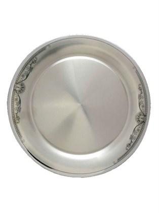 Серебряная тарелка подставочная