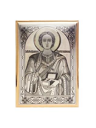 """Икона серебряная """"Целитель Пантелеймон"""""""