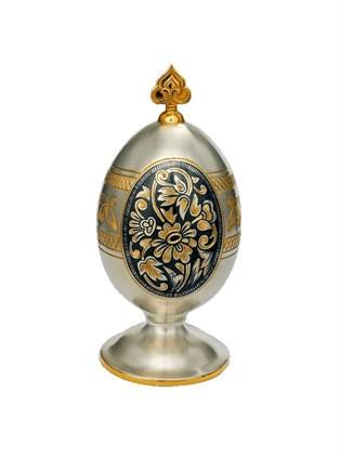 Яйцо серебряное пасхальное