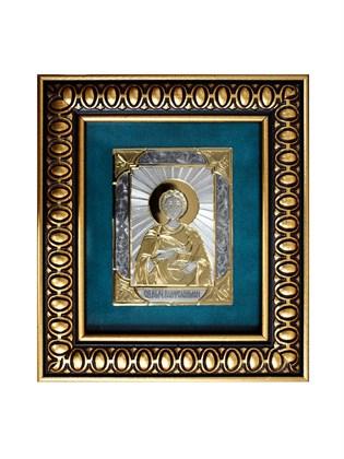 Икона серебряная Целитель Пантелеймон