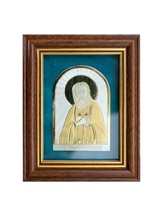 Икона серебряная Серафим Саровский