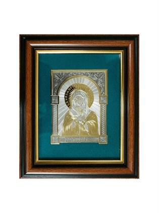Икона серебряная Пресвятой Богородицы Умиление